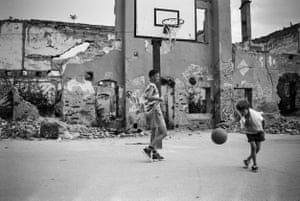 Basketball court, 1997.