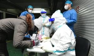 Nucleic acid testing in Shijiazhuang, Hebei, China. 6 Jan 2021