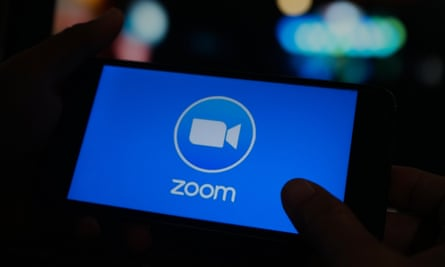 Zoom, Virtual Meeting Application on Mobile Screen