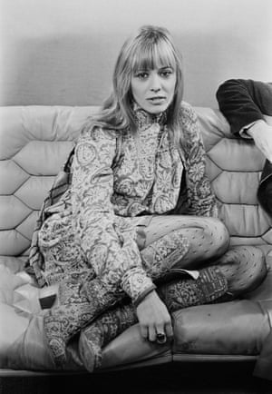 Pattern clashPatterned tights and clashing prints – Pallenberg proving she's worth her sartorial salt in 1971.