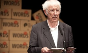 Seamus Heaney reading at the Aldeburgh poetry festival in 2010.