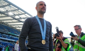 Pep Guardiola has won two Premier League titles since arriving at Manchester City in 2016.