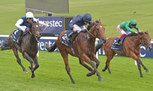 Cap Francais, left, finished strongly but just too late in a Derby trial at Epsom last month.