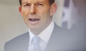 Tony Abbott speaks to the media ahead of the opening of the 44th parliament in 2013.