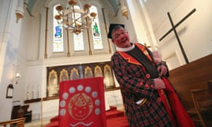 Bain at Holy Trinity Church in Dalston, London, in 2013 before the annual Clowns Church Service held in memory of Joseph Grimaldi.