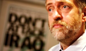 Jeremy Corbyn at a press conference by the Stop the War Coalition in 2002.