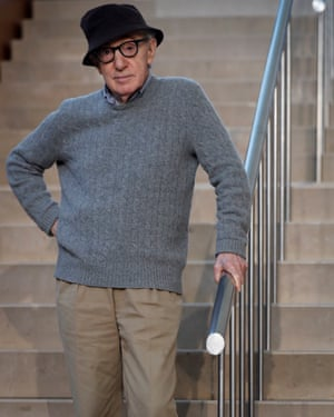 Woody Allen at a press conference in San Sebastián in July