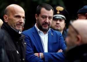 Italy's deputy PM and interior minister Matteo Salvini.