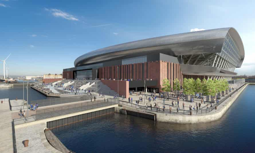 Final designs of Everton's new 53,000-seat stadium at Bramley-Moore Dock on Liverpool's waterfront