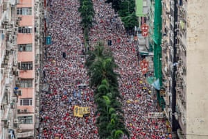 A huge protest in Hong Kong
