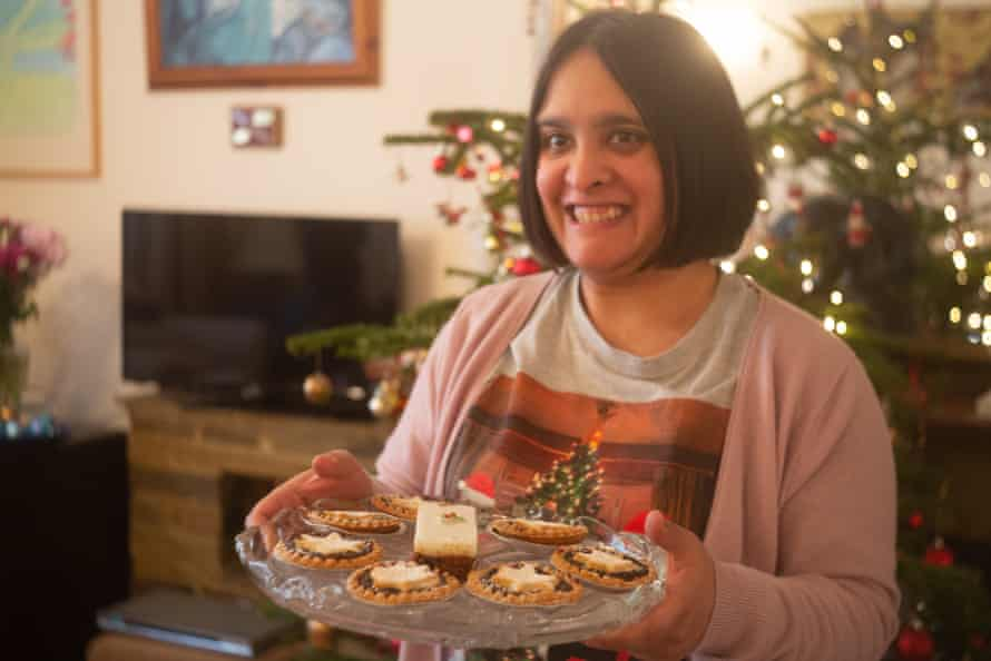 Raana made Christmas treats for her family alongside her supported living neighbours in the on-site bakery, which is now closed.