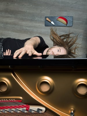 Tim Minchin photographed at Steinway Hall, Marylebone to accompany an interview by John Hind
