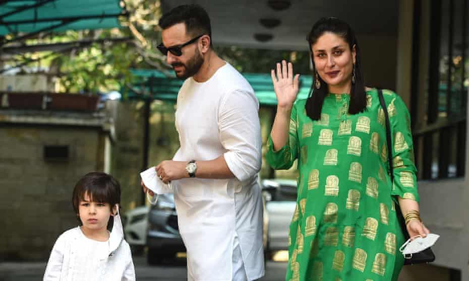 Bollywood actors Kareena Kapoor and Saif Ali Khan with their first son Taimur.