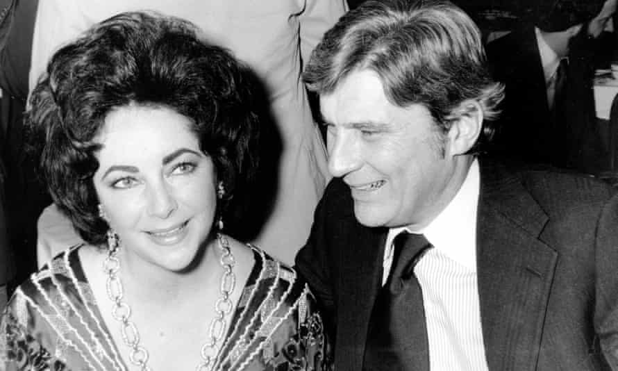 John Warner with his then wife, Elizabeth Taylor, in 1977.