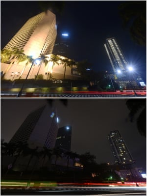 The business district in Jakarta, Indonesia