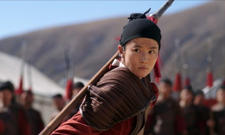 Yifei Liu in the forthcoming live-action version of Mulan from Disney.
