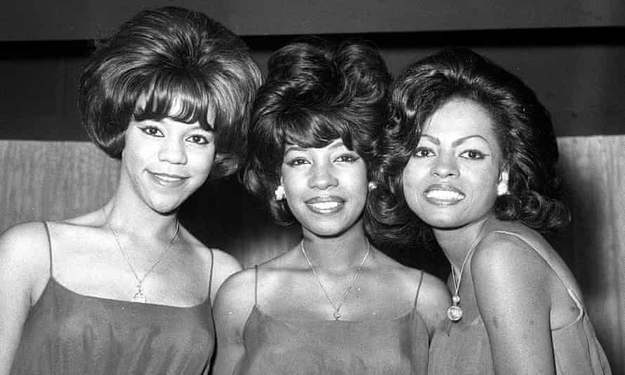 Mary Wilson, centre, with Florence Ballard, left, and Diana Ross.