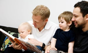 Fathers reading to children