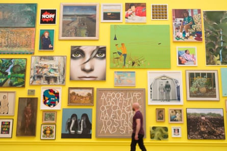 'How do you want to leave your mark?' ... This year's Royal Academy summer exhibition.
