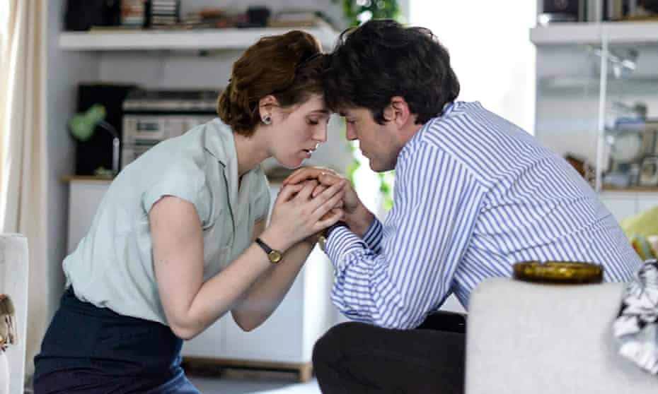Honor Swinton Byrne with Burke in The Souvenir