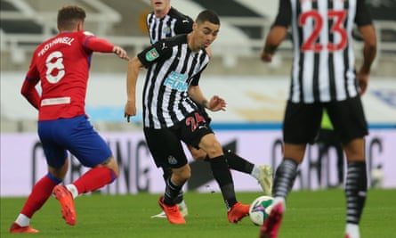 Miguel Almirón was a constant threat for Newcastle.