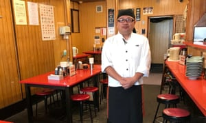 Hiroki Nakatsuhara at his gyoza restaurant, Minmin, in Utsunomiya