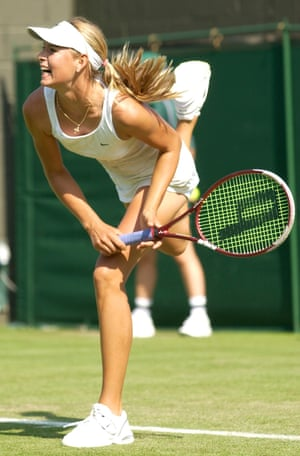 Sharapova was a wildcard entrant at Wimbledon in 2003, her first appearance in the senior tournament at SW19. She made it to the fourth round and on the way defeated 11th seed Jelena Dokić, her first win over a top-20 player