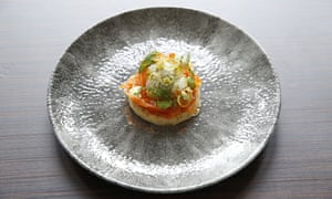 cured trout on crumpet