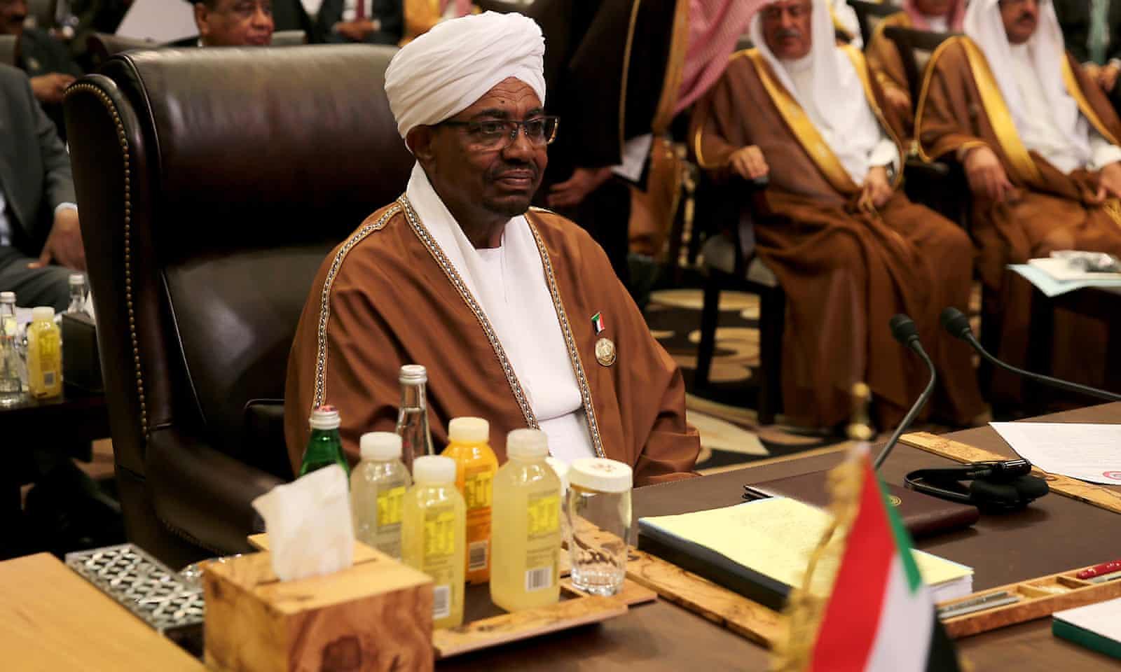 Sudanese president Omar al-Bashir at the Arab League summit in Jordan in March 2017.