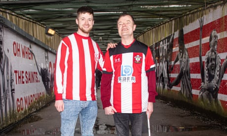 'Dad never gives up': the bond between one blind Southampton fan and his son