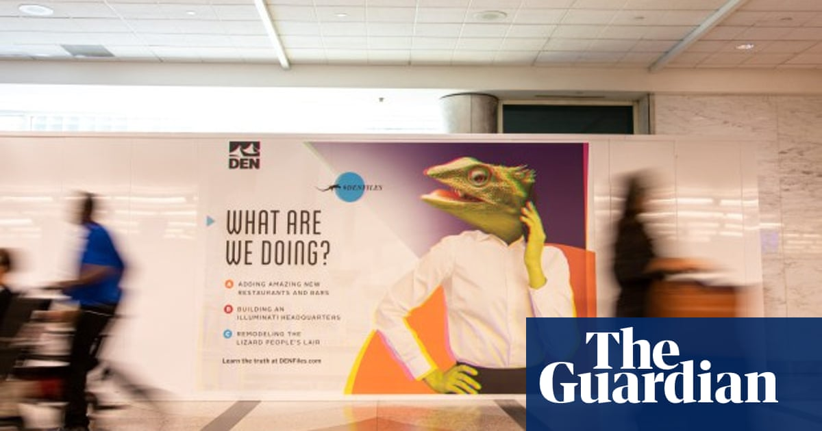 Remodelling the lizard people's lair': Denver airport trolls ...