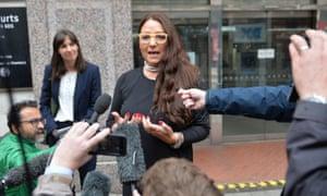 Anderton Park's headteacher, Sarah Hewitt-Clarkson, outside court in Birmingham.