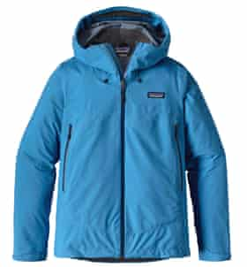 Patagonia Cloud Ridge jacket, using recycled fabric.