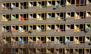 The Heygate estate in south London is prepared for demolition.