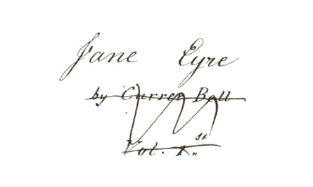 Reader, I wrote him by hand … the title page of the Jane Eyre Manuscript.