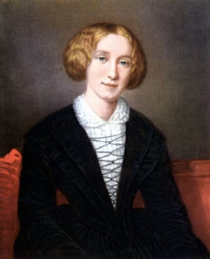 A portrait of George Eliot, after F d'A Durade, neatly avoids exposing the author's right hand.