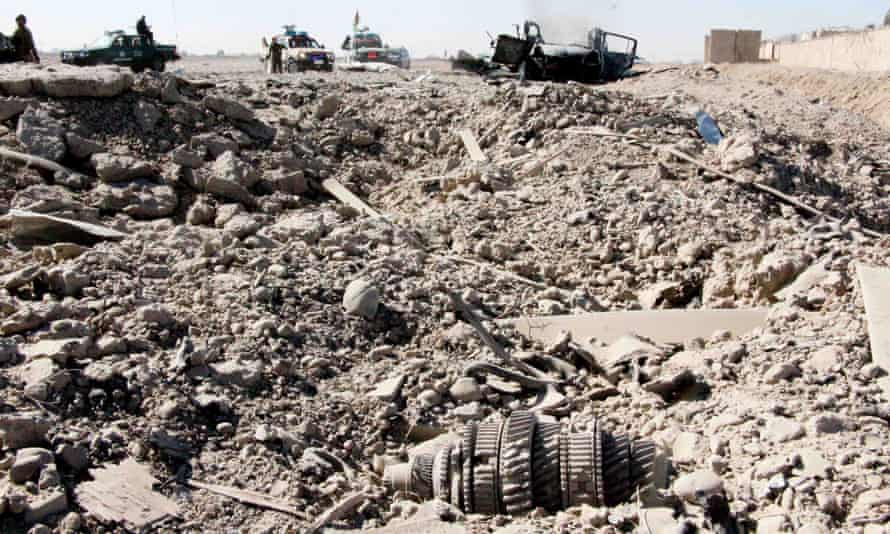 The scene of an attack on an intelligence agency in Kandahar. Afghanistan overtook Syria to become the deadliest conflict for civilians last year.
