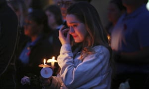 Aly Justice attends a vigil on the anniversary of the Parkland shooting.