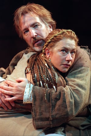 Rickman and Mirren in Antony and Cleopatra.