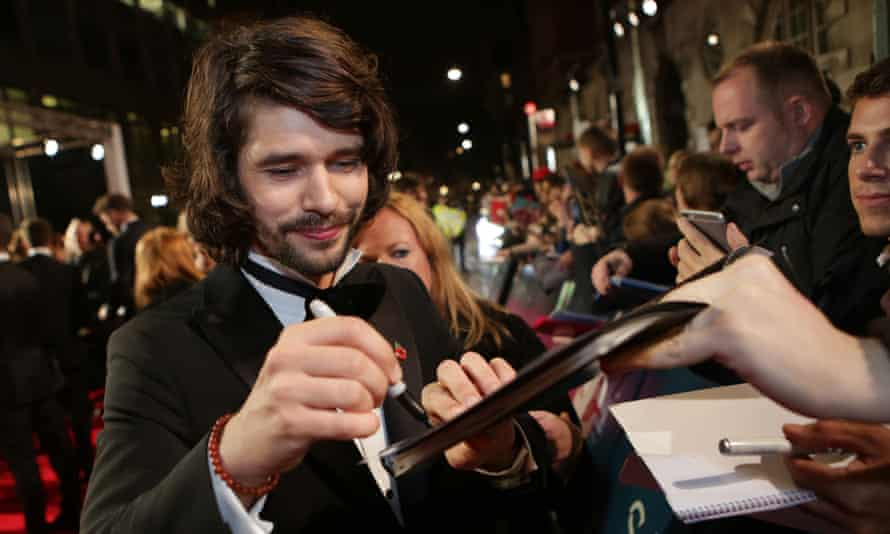 Actor Ben Whishaw at the London premiere of Spectre.