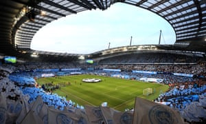 Manchester City's Etihad Stadium is full on a big night in the Champions League.