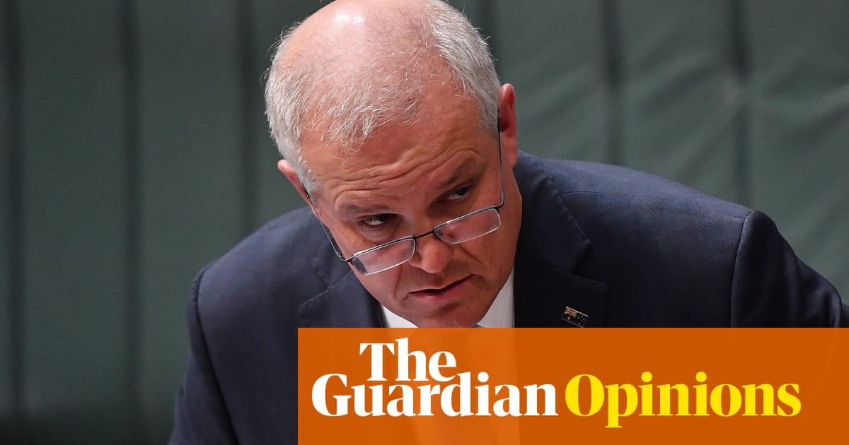 Embroiled in a political crisis, Scott Morrison is looking tricky, unable to be straight with the public