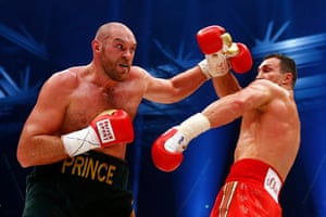 Here's some stats for you; <br><strong>Landed: </strong>Klitschko: 52 Fury: 86, <br><strong>Power blows: </strong>Klitschko: 18 Fury: 48,<br><strong>Thrown: </strong>Klitschko: 69 Fury: 202