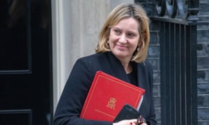 The work and pensions secretary, Amber Rudd, leaves No 10