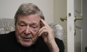 Cardinal George Pell during the interview at his residence near the Vatican in Rome