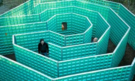 Jeff Saward's The Labyrinth, sculpture at Chianti Sculpture Park, Chianti, Italy