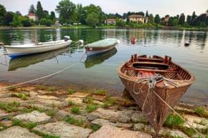 Boats moored up at Sesto Calende.