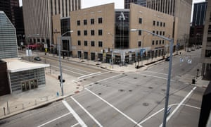 Desolate streets are seen in Dayton, Ohio, on Tuesday. The Republican governor, Mike DeWine, has acted aggressively to confront the coronavirus crisis.