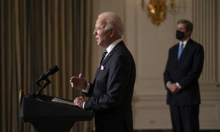 Joe Biden invites 40 world leaders to virtual summit on climate crisis | Joe Biden | The Guardian