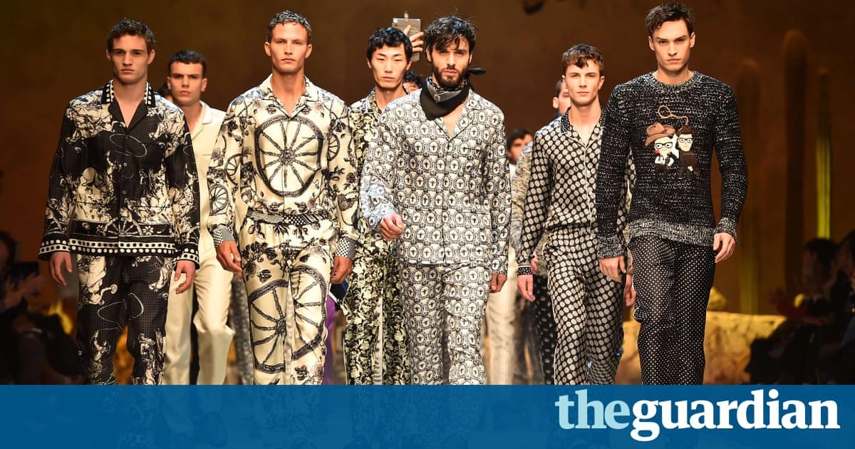 123488912b94 Dolce Gabbana Bring Wild West Show To A Close With Pyjama